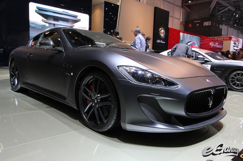 Maserati MC STradale Matte Black Geneva Motor Show
