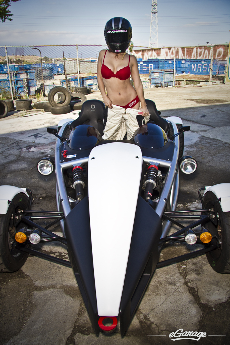 Ariel Atom1 Hottie Wheels: eGarage+Shay Maria
