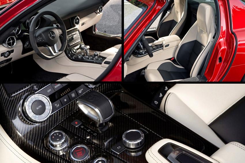 Mereceds SLS interior Mercedes Benz SLS Roadster