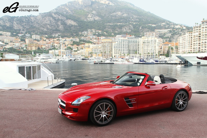 Mercedes benz sls roadster for Garage mercedes monaco