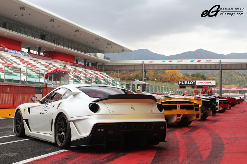 white Ferrari 599XX Ferrari Challenge | From California to Italy