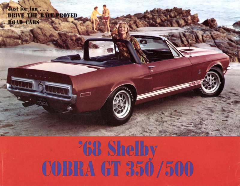 1968 Shelby Cobra GT 350 500 Tri Fold Brochure Cover 1967 Shelby GT 500 Convertible   Project Red Hot