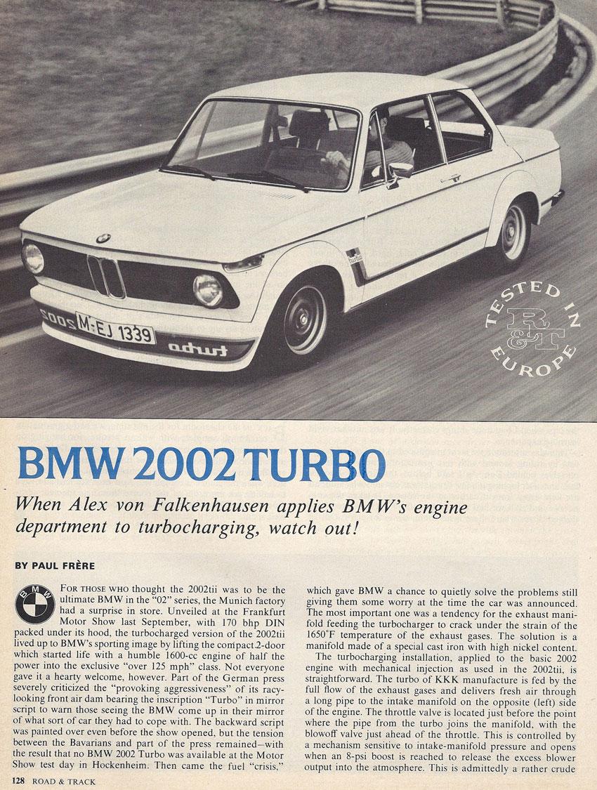 BMW turbo bmw 2002 : BMW 2002 Turbo