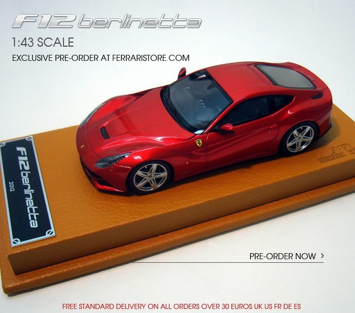 Ferrari Store Unveiled: Ferrari F12 Berlinetta