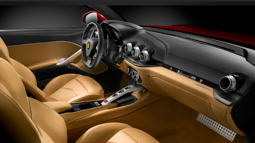 Ferrari V2 F12 Berlinetta Interior Cockpit