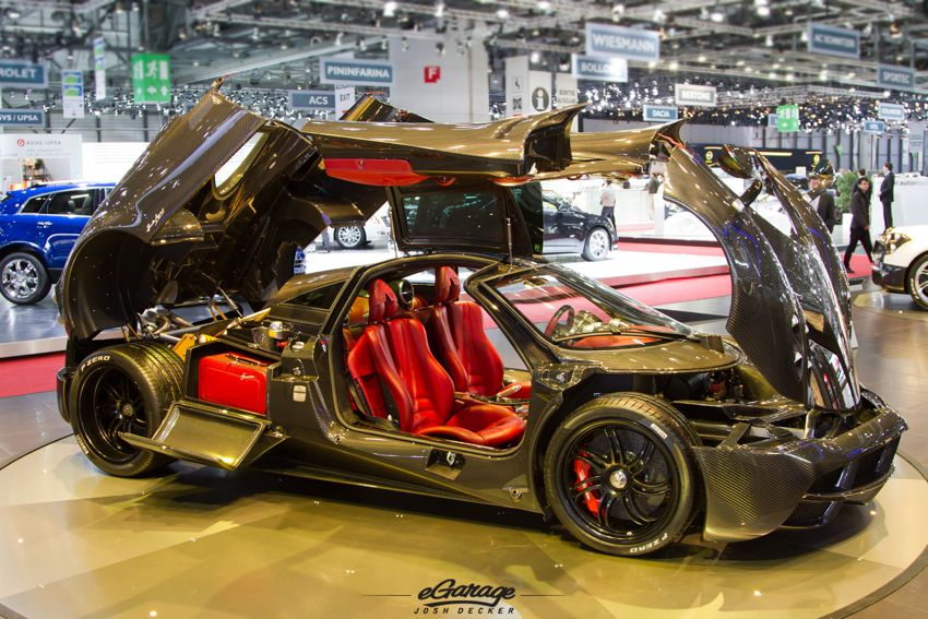 Pagani Huayra Carbon interior 2012 Geneva Motor Show