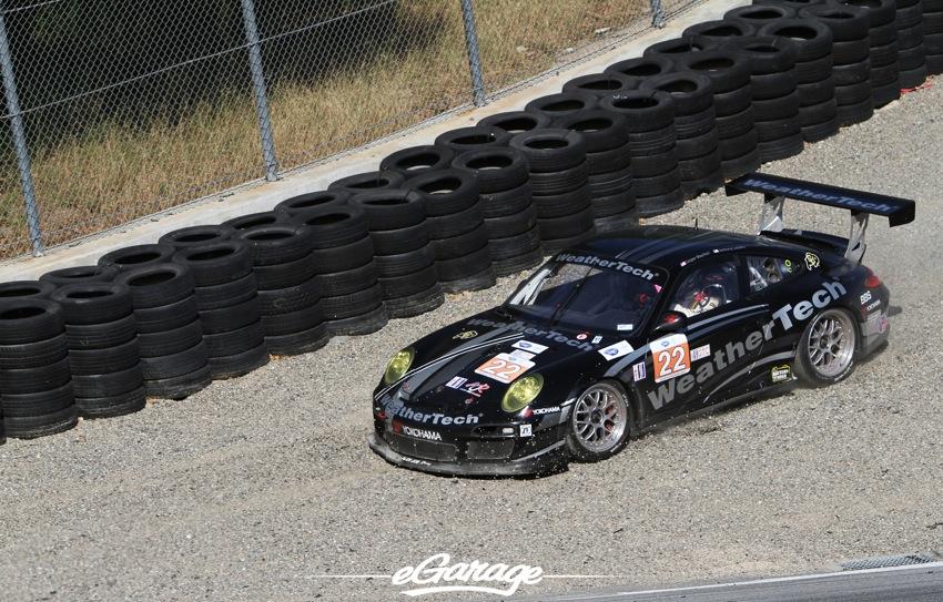 2012 ALMS Porsche 911 GT3 off road corkscrew ALMS: Laguna Seca
