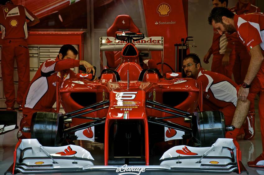 eGarage 2012 Italian Grand Prix Ferrari Pit