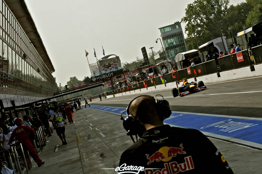 eGarage 2012 Italian Grand Prix Pit Lane Red Bull