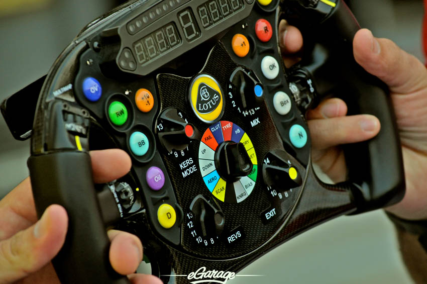 eGarage 2012 Italian Grand Prix Steering Wheel Lotus