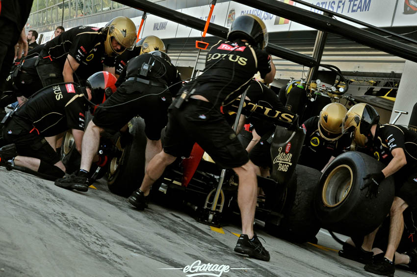 eGarage 2012 Italian Grand Prix Lotus Pit Crew