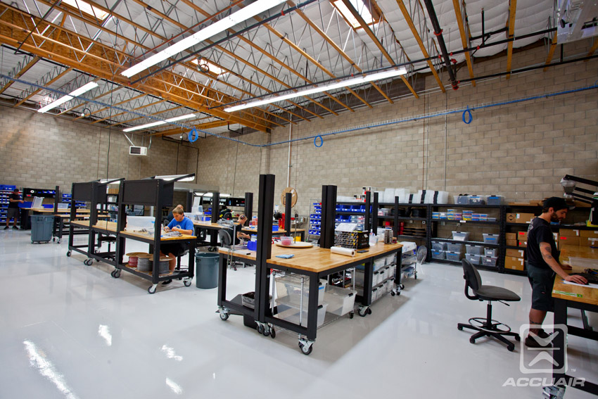 AccuAir Corporate HQ workbenches