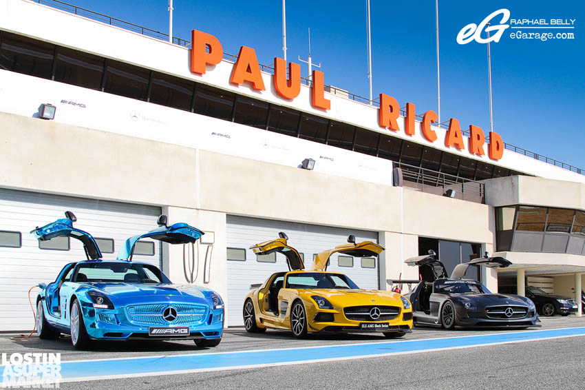 SLS AMG Paul Ricard Trio doors up