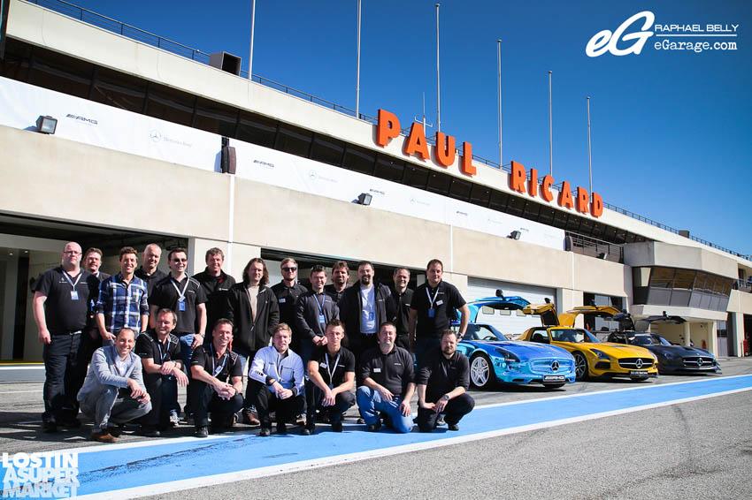 SLS AMG Paul Ricard Crew