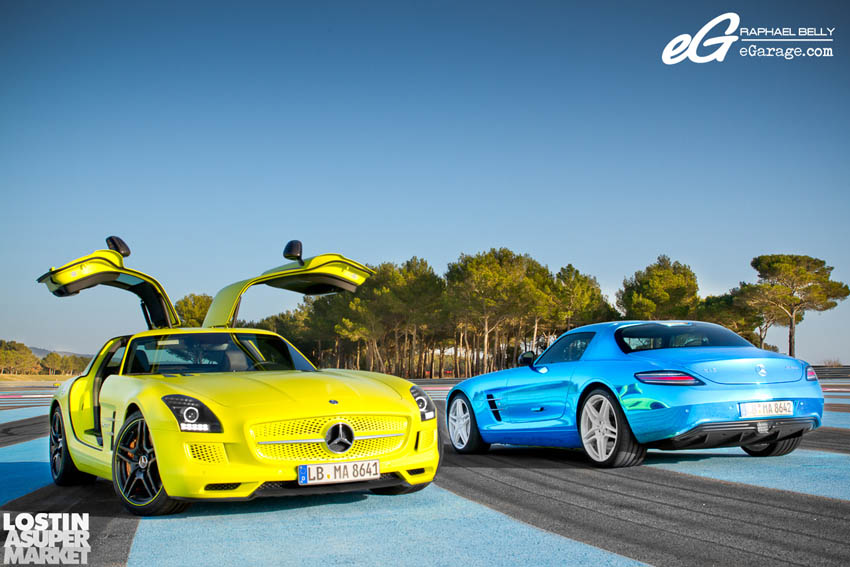 SLS AMG Paul Ricard ECell and Blue