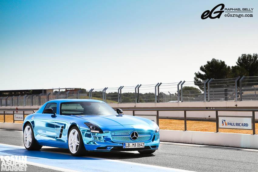 SLS AMG Paul Ricard ECell Blue