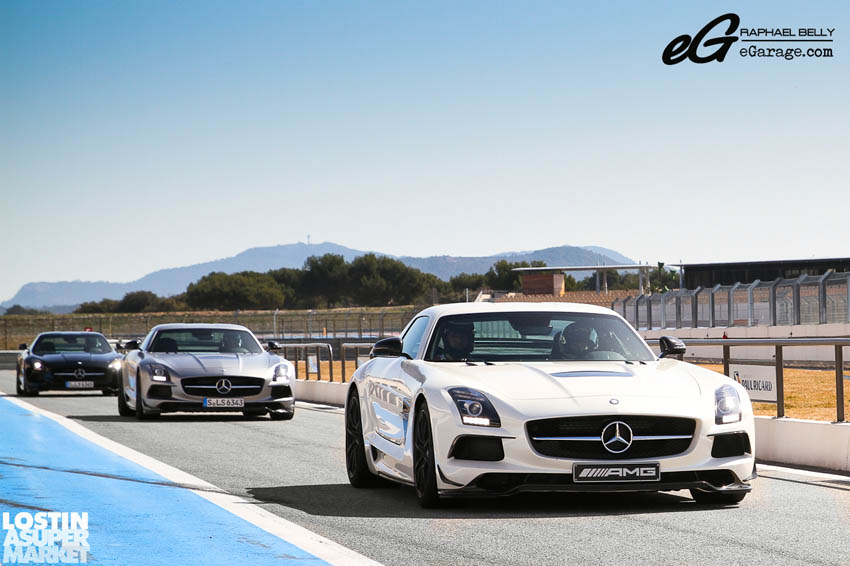 SLS AMG Paul Ricard trio of Black