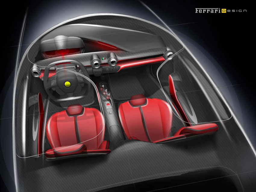 ct laferrari styling 09 interior concept LaFerrari