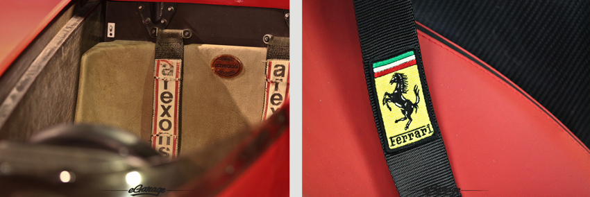 seatbelts Ferrari Supercars
