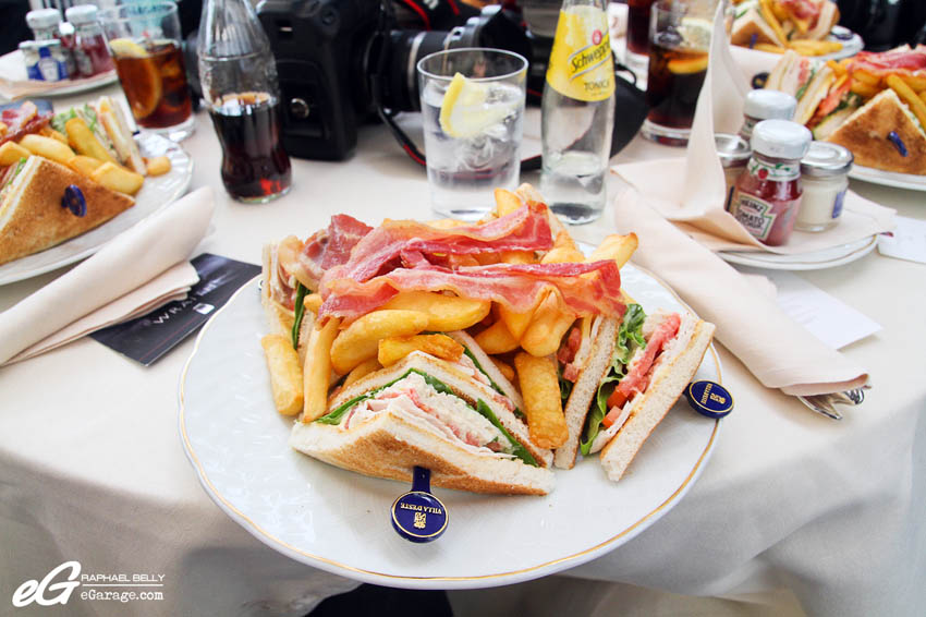 2013 Villa d'Este Restaurant Club Sandwich