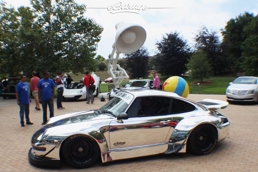 chrome car RWB porsche