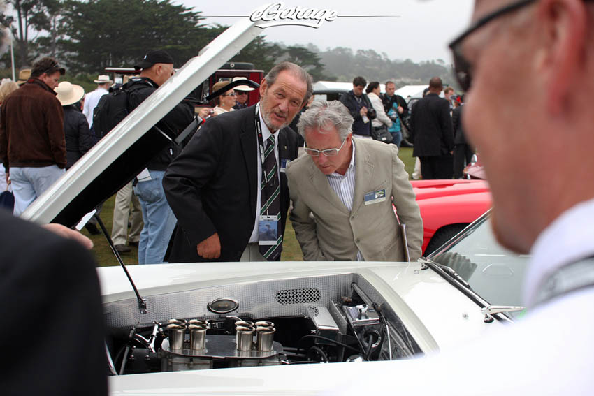Horacio Pagani and Valentino Balboni at Pebble Beach Concours 2013