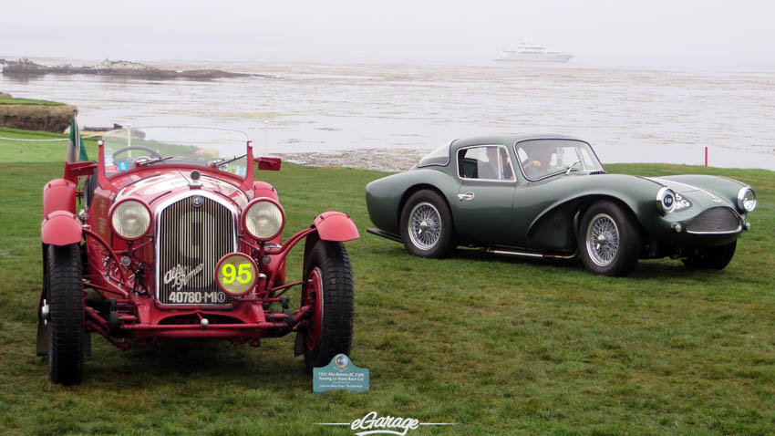 Alfa and Aston at Pebble Beach Concours 2013