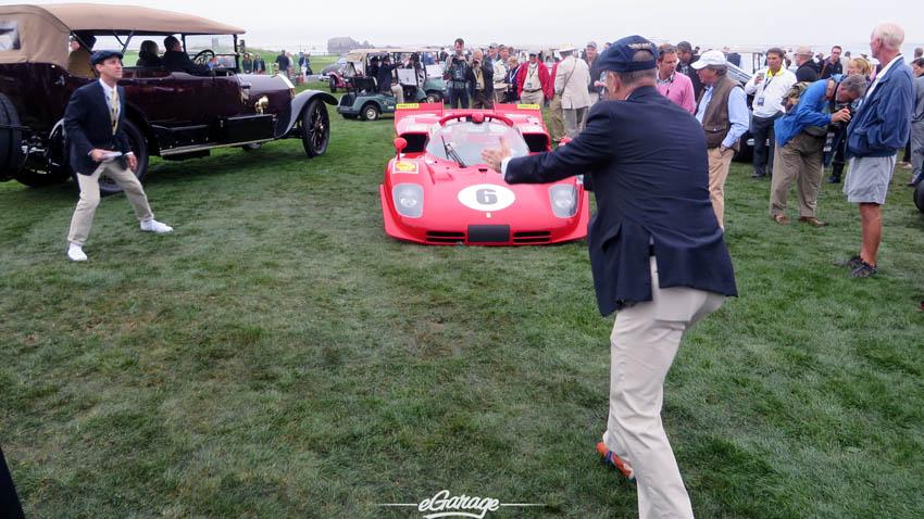 Team effort parking the Ferrari Pebble Beach Concours 2013173