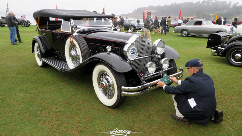 License plate at Pebble Beach Concours 2013
