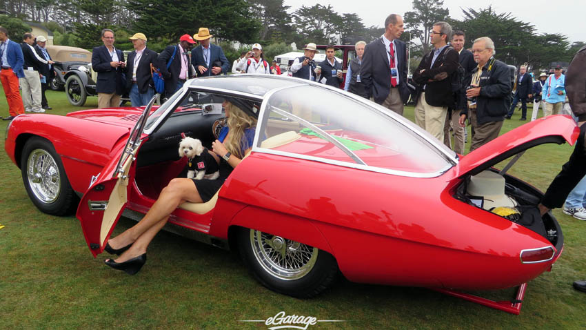 Woman and Dog Pebble Beach Concours 2013