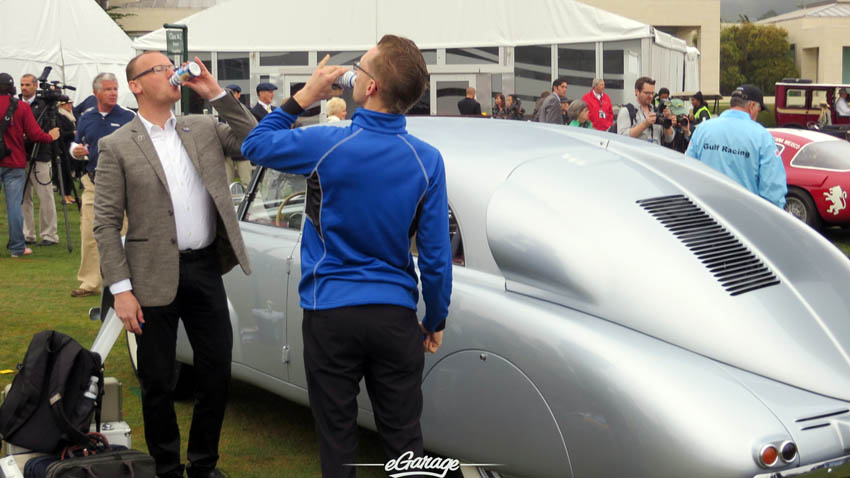 Morning refreshment at Pebble Beach Concours 2013