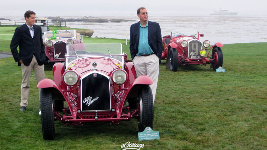Father Son Alfa Romeo Pebble Beach Concours 2013
