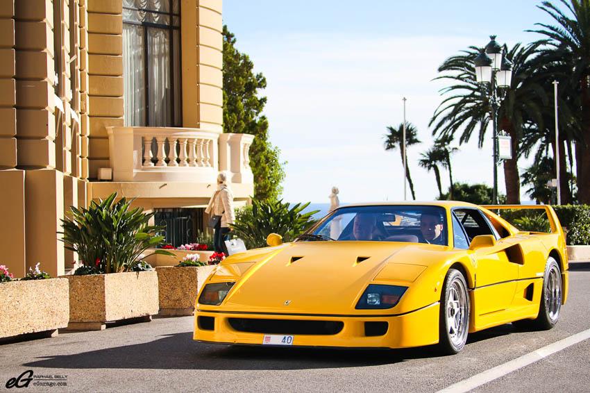 2013 Monaco Telethon Yellow Ferrari F40
