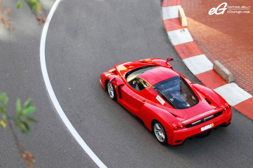 2013 Monaco Telethon Ferrari Enzo Overhead