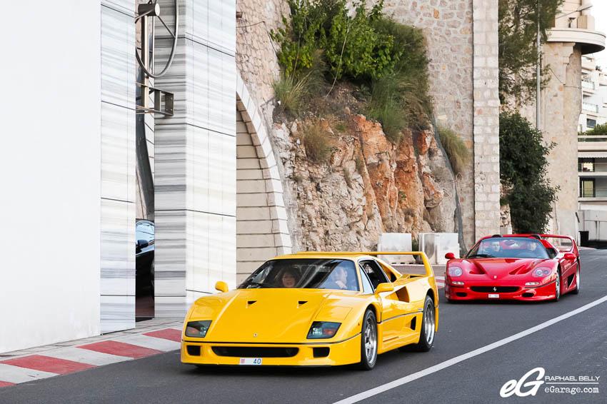 2013 Monaco Telethon Ferrari F40 and F50