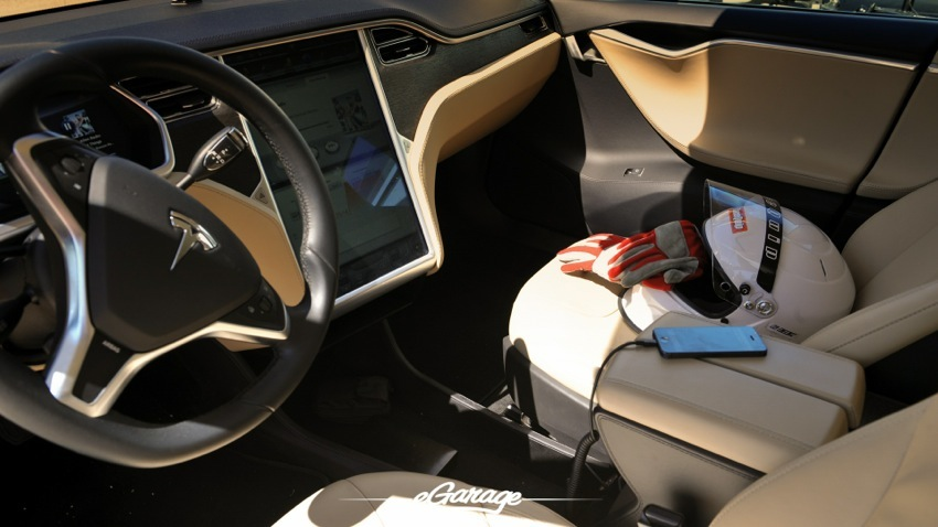 Teslarati Model S Charging Interior at Willow Springs