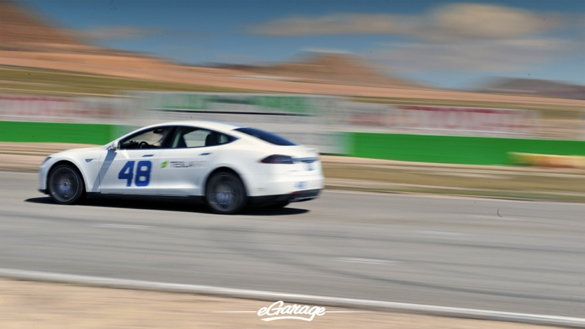 Teslarati Model S Blur Profile at Willow Springs