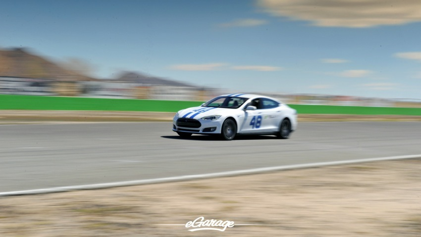 Teslarati Model S Blur Front at Willow Springs